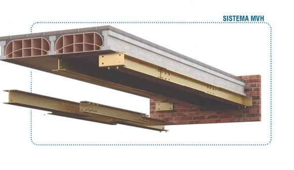 Sistema de reparación estructural de forjados afectados por carbonatación