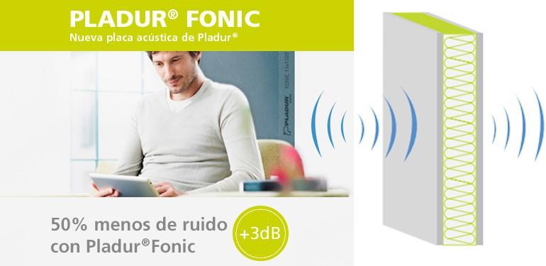 50% menos de ruido con Pladur® Fonic